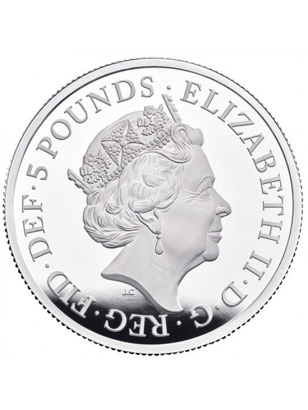 Una and The Lion 2019 Two Ounce Silver Proof Five pounds Coin New release coin from the Royal Mint that mirrors that of the original